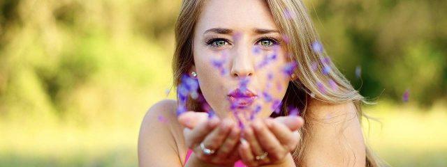Female Blowing Purple Flowers 1280x480 1 640x240