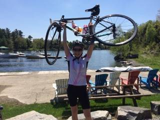 Dr. Facey with her bike
