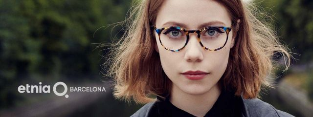 Optometrist, girl wearing Etnia Barcelona eyeglasses in Winnipeg, MB