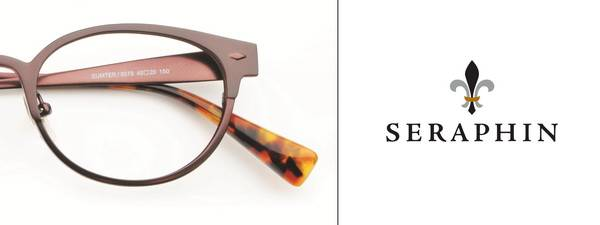Eye doctor, pair of Seraphin eyeglasses in Winnipeg, MB