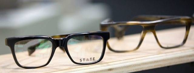 Optometrist, man wearing State eyeglasses in Winnipeg, MB