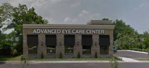 Advanced Eye Care Center storefront, eye doctor, eye care.