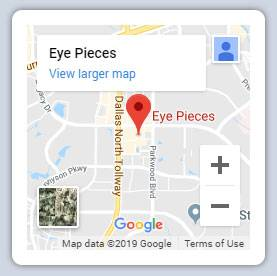 Map of Eye Pieces in Plano, TX