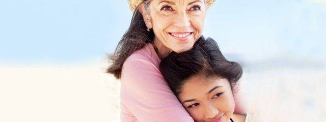 Eye doctor, senior woman with her granddaughter in Fort Worth, TX
