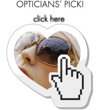 optician's pick text over woman wearing sunglasses in heart near hand