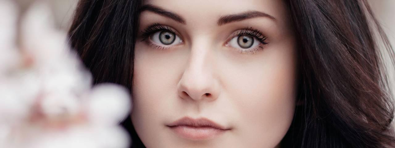 beautiful face woman pastel