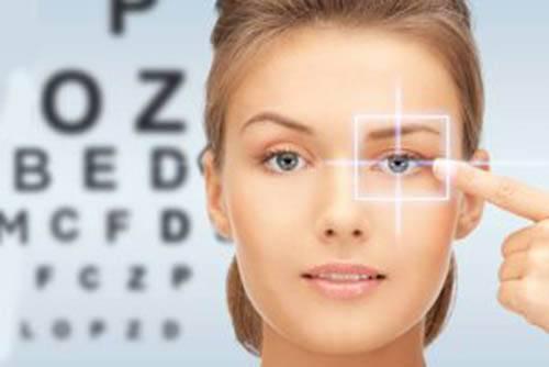 eye chart caucasian woman 500x334