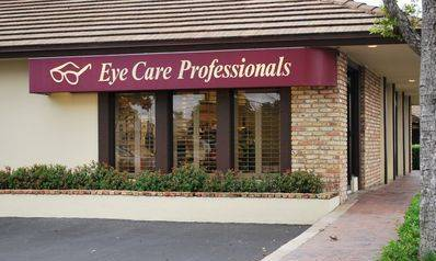 Front of our optometry practice, Eye Care, Lantana, FL