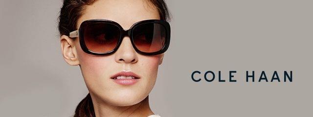 Eye doctor, woman wearing Cole Haan sunglasses in Lantana, FL