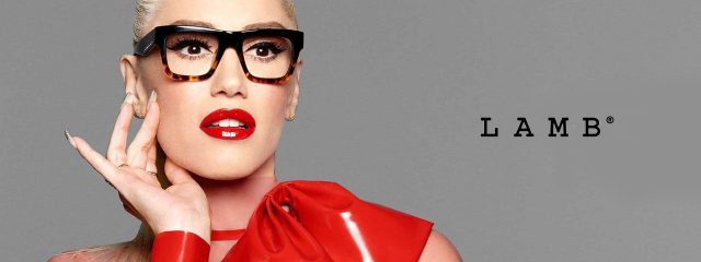 Optometrist, woman wearing L.A.M.B. by Gwen Stefani eyeglasses in Lantana, FL