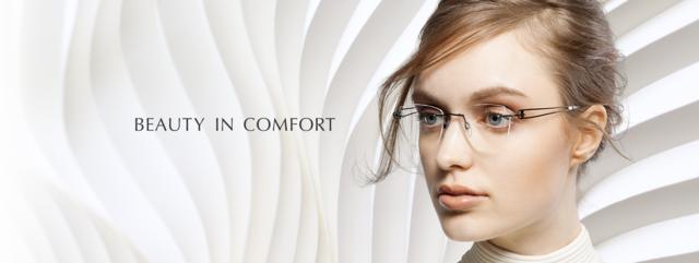 Optometrist, girl wearing LineArt eyeglasses in Lantana, FL