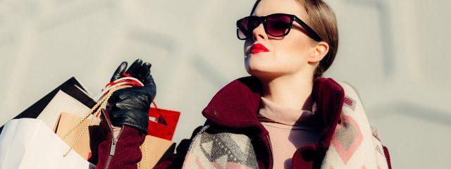 Eye care, woman wearing designer sunglasses in Providence, RI