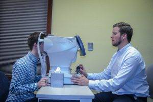 Doctor giving a visual field test in Frisco, Breckenridge and Silverthorne, CO