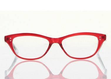 red cats eye frames