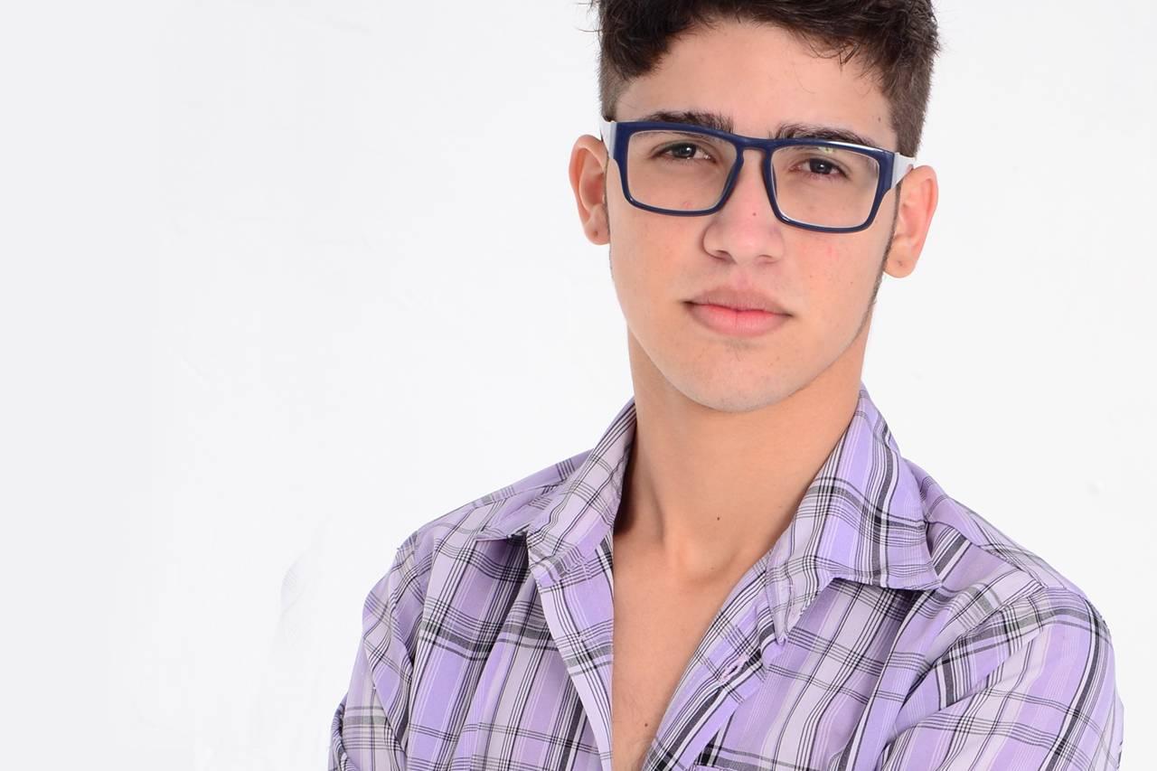 Teen Boy Blue Glasses