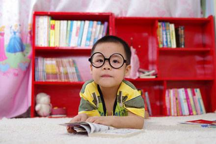 eye care, cute little boy wearing eyeglasses for Myopia in Waterloo, ON