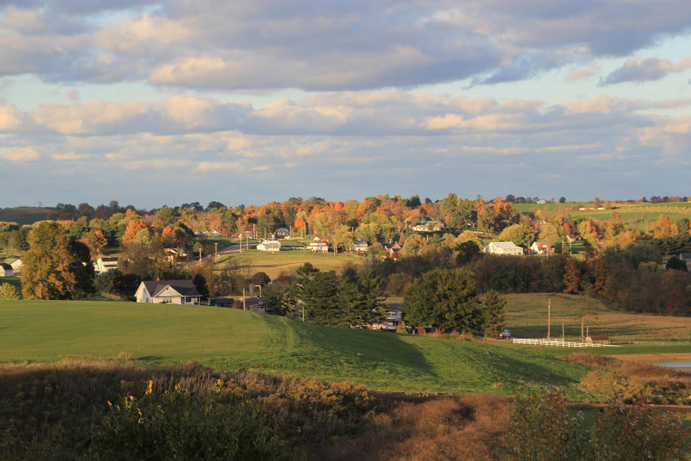 Scene of town near Wooster, OH