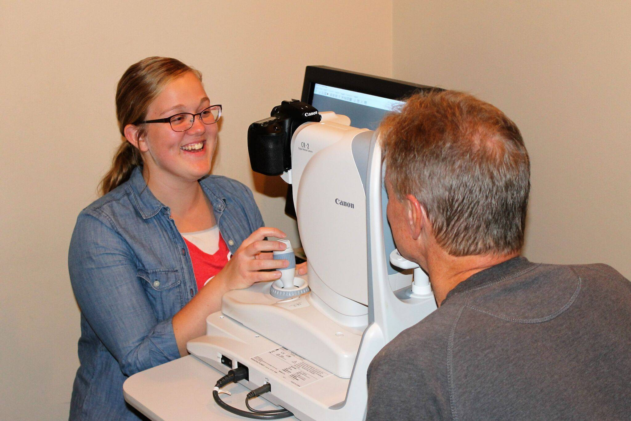 Patient in eye exam; Millersburg, also serving Wooster
