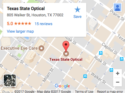 Texas State Optical Downtown Map