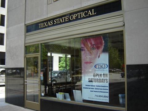 Texas State Optical Downtown, store front