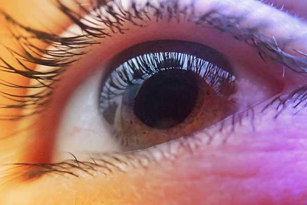 close up of eye