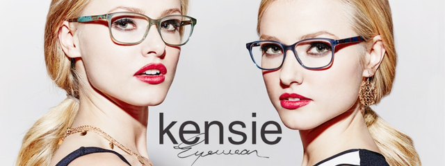 Eye doctor, women wearing Kensie eyeglasses in Milton, ON