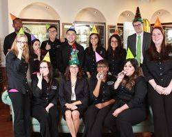 optometrist in Cypress Dr. Nguyen and staff party