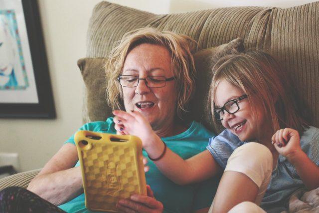 child glasses tablet grandmother1280x853
