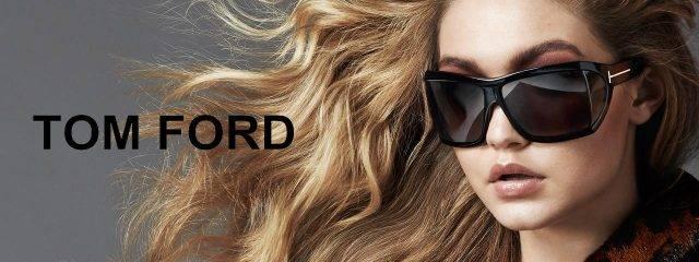Eye doctor, woman wearing Tom Ford sunglasses in Seattle, WA