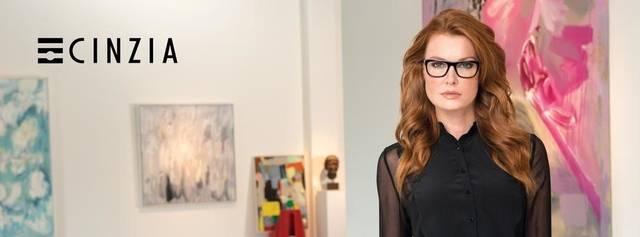 Eye doctor, woman wearing Cinzia eyeglasses in Seattle, WA