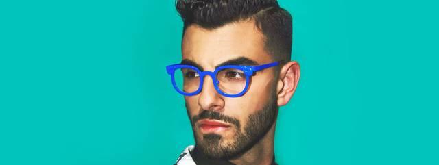 Eye doctor, man wearing l.a.Eyeworks eyeglasses in Seattle, WA