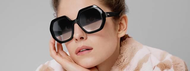 Eye doctor, woman wearing Longchamp sunglasses in Seattle, WA