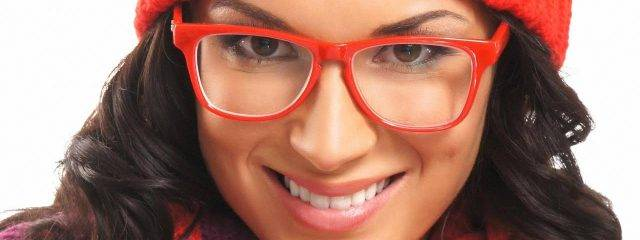 Eye care woman wearing high index lenses in Round Rock, TX