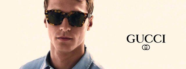 Optometrist, man wearing Gucci sunglasses in Irving, TX