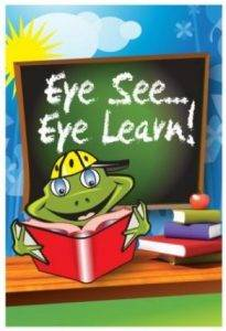 Frog picture for eye see eye learn, Children's optometrist, Freelton, ON