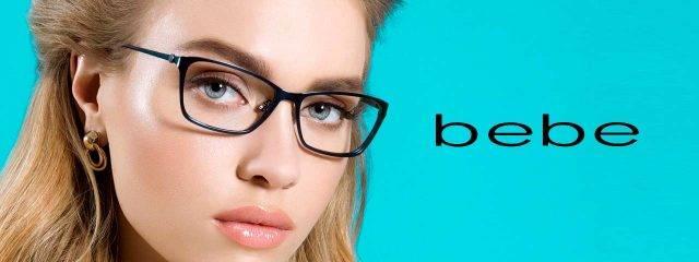 Eye doctor, woman wearing Bebe eyeglasses in Freelton, ON