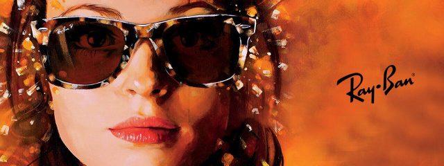 Eye doctor, woman wearing Ray-Ban sunglasses in Freelton, ON