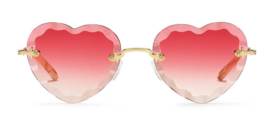 Chloe New Rosie Pink Heart Sunglasses at EYEcenter Optometric in Sacramento, CA