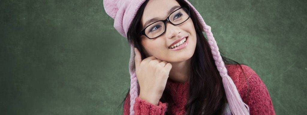 Girl Glasses Hat Thinking 1280x480 1024x384
