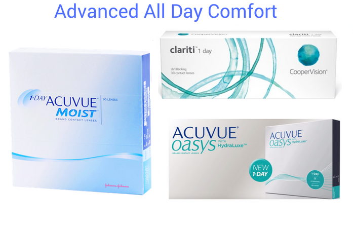 Features lenses Contact Lenses Dailes Acuvue Clarit