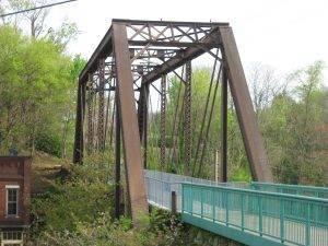 Upland Trail bridge in Clarksville min