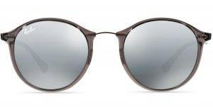 ray ban graygray mirror light ray mirrored round sunglasses gray product 1 029862275 normal