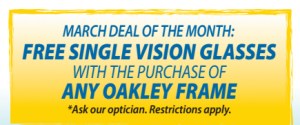 Our optical frame of the month sale on eyeglassses