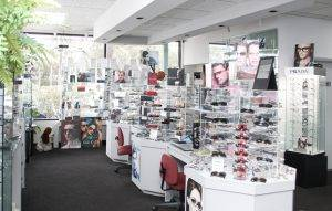 Optical Area Inside Krisel Eyecare eye clinic in Davie, FL
