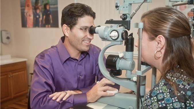 Dr Girard eye exam
