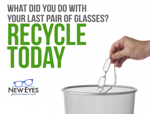 Ad for New Eyes, recycling eyeglasses