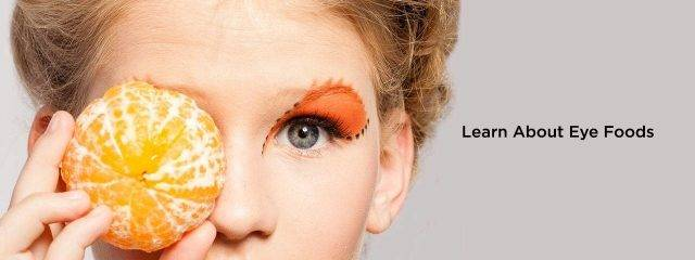 Eye care, woman with orange on her eye in Cypress, TX