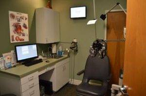exam room at our Avondale eye care clinic