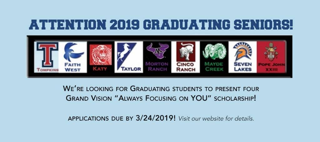 grand vision scholarship 2019, Katy, TX