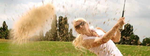 sports golfing caucasian woman sunglasses 1280x480 640x240